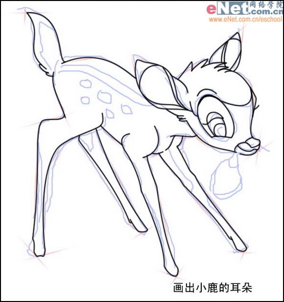 小鹿的简笔画法步骤